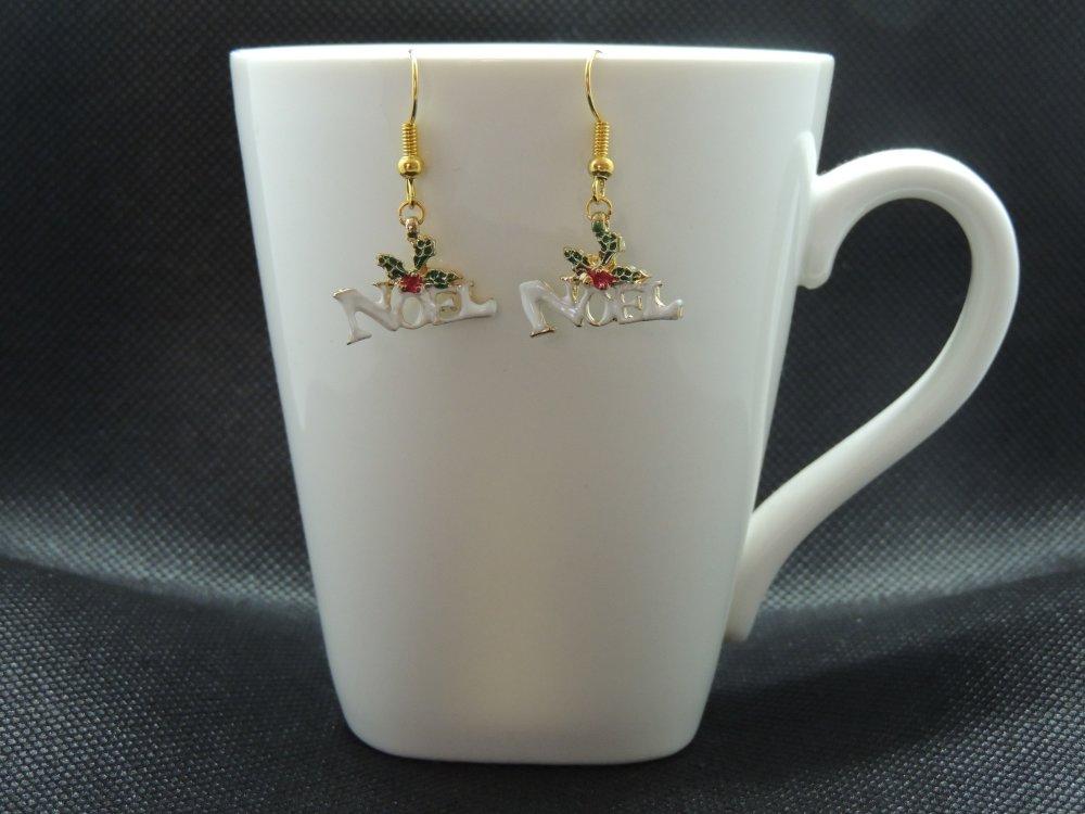Boucles d'oreilles pendantes Noël