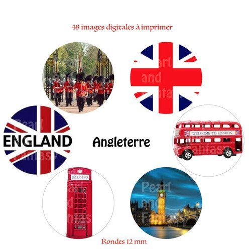Images Digitales Rondes Angleterre 12 Mm