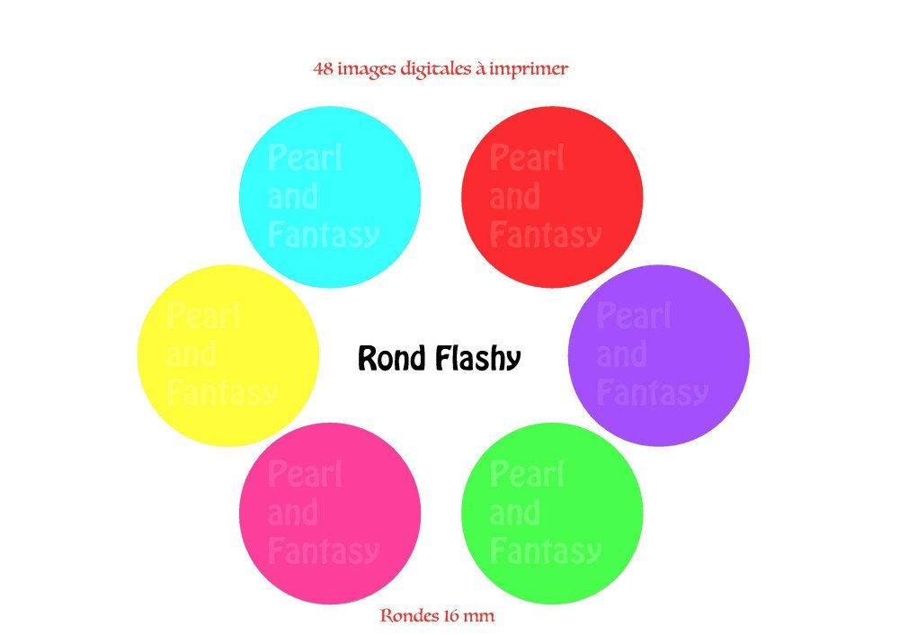 """Images Digitales Rondes """"Rond Flashy"""" 16 mm"""