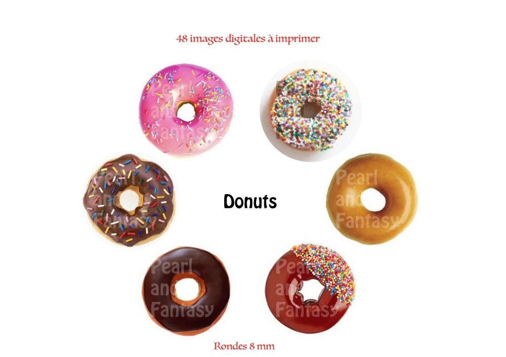 "Images Digitales Rondes ""Donuts"" 8 mm"