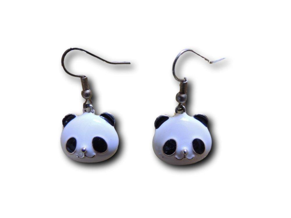 Boucles d'oreilles pendantes Panda