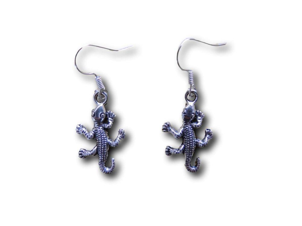 Boucles d'oreilles pendantes Salamandre
