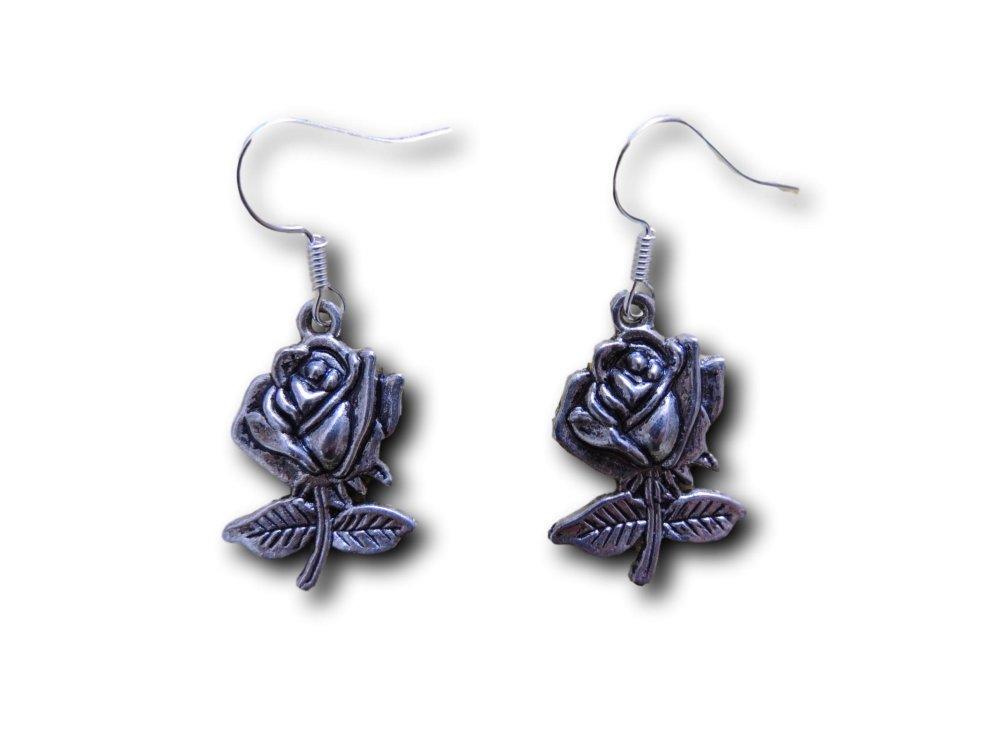 Boucles d'oreilles pendantes Fleur