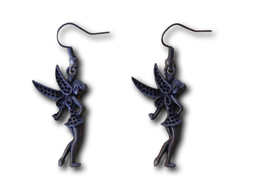 Boucles d'oreilles pendantes Fée Bronze