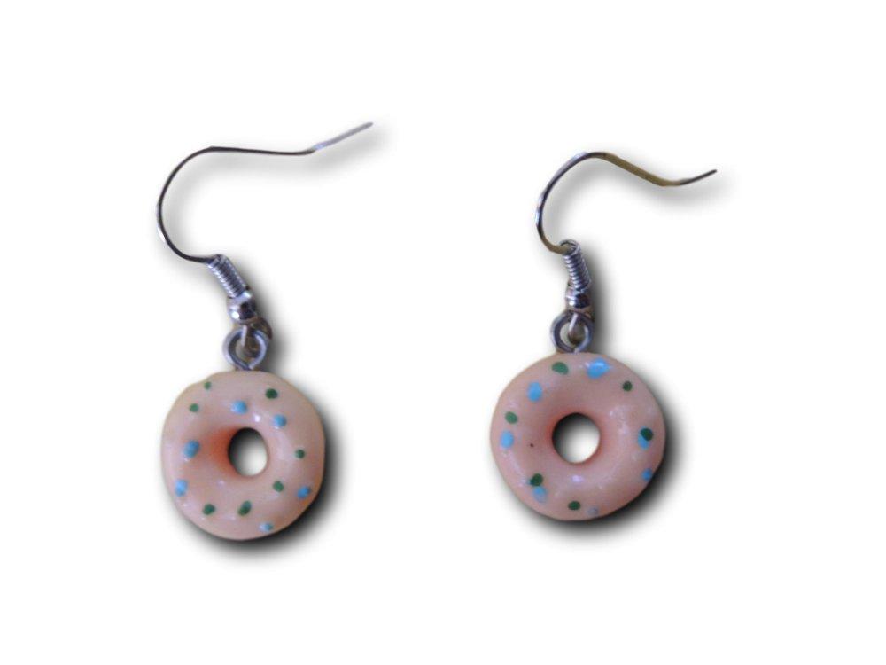 Boucles d'oreilles pendantes Donuts Saumon