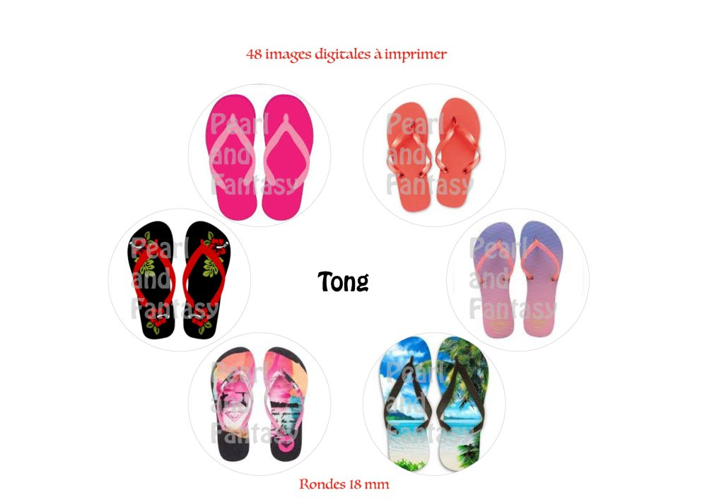 """Images Digitales Rondes """"Tong"""" 18 mm"""
