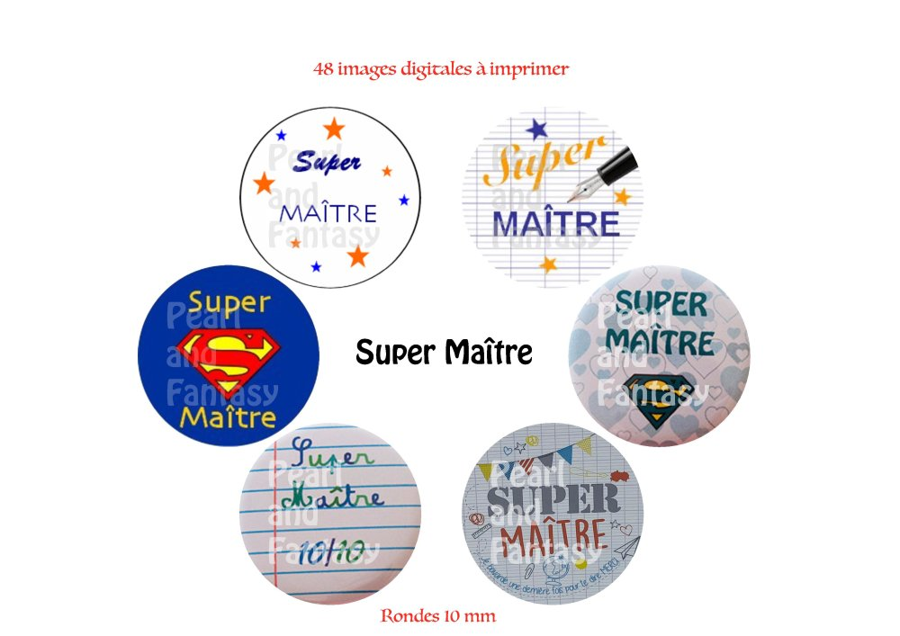"Images Digitales Rondes ""Super Maître"" 10 mm"