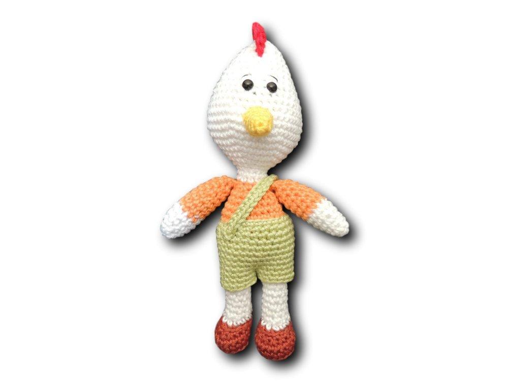 """Amigurumi """"Famille Cocorico"""" au crochet en coton"""