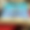 La petite baigneuse bord de mer tableau unique acrylique bleu vacances mer peinture acrylique mer enfant tableau