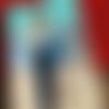 Les amoureux du bord de mer tableau mots doux peinture acrylique bleu rayure couple d'amoureux marin amour marinière sea painting