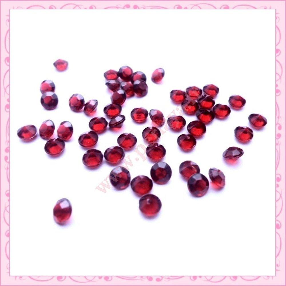 RosesBroche Diamante rouge plaqu/é or-Longueur 52 mm