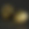 Lot 5 perles en métal étoile ajourée - couleur doré