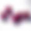 Lot 25 perles magiques - 8mm - rose foncé