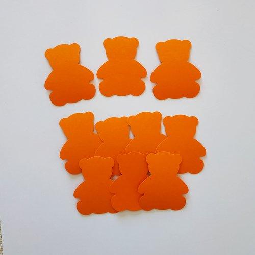 Confettis oursons orange