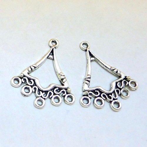 Chandeliers connecteurs pour boucles d'oreilles pendantes