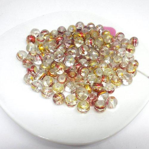 25 mm Dor/é Yigo Lot de 50 perles de fer en vrac 25 mm pour d/écoration de No/ël et accessoires faits /à la main