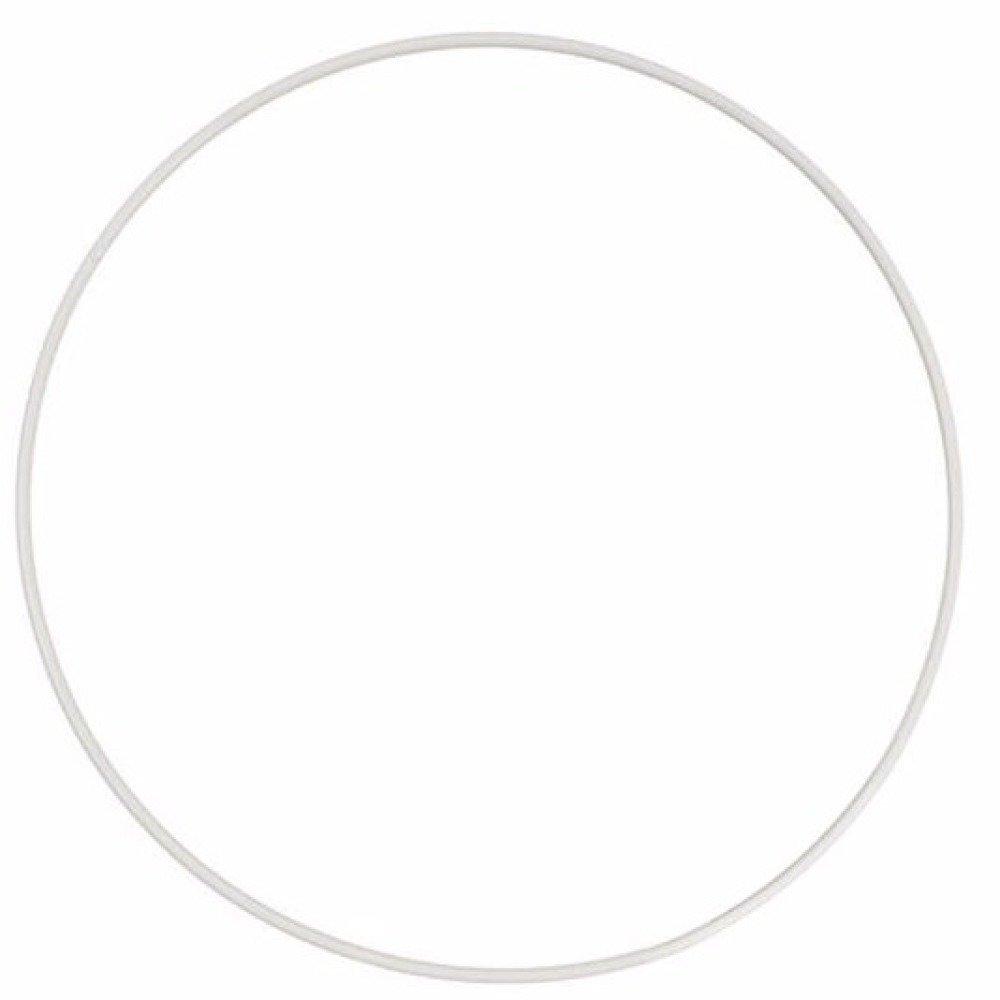 3 Cercles nus en métal finition Epoxy blanc  diamètre 15 cm