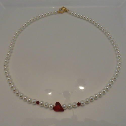 bague swarovski coeur rouge