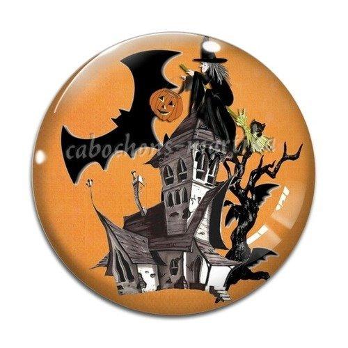 Cabochon halloween résine, 25 mm