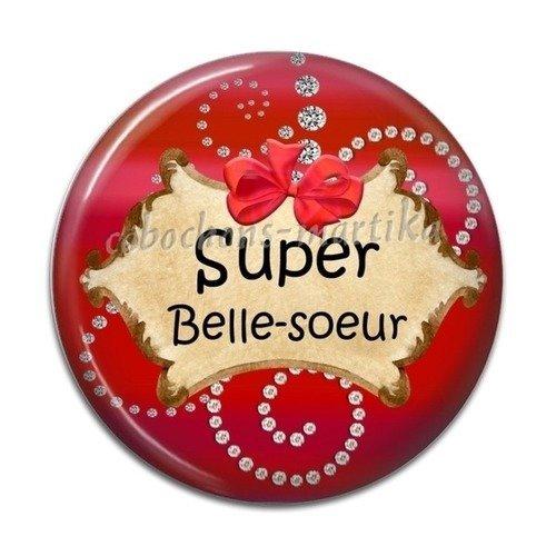 Cabochon belle-soeur résine 25 mm super belle-soeur
