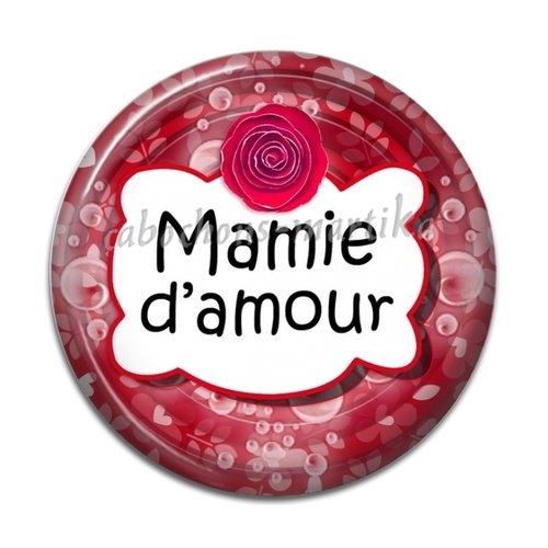 Cabochon mamie d'amour, résine 20 mm