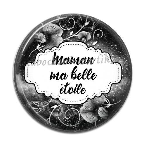 Cabochon maman, 25 mm résine