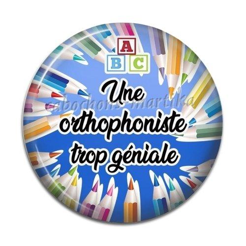Cabochon orthophoniste, cabochon résine 25 mm