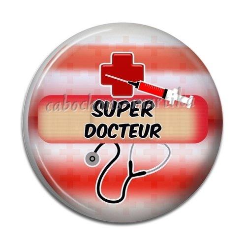 Cabochon résine-super docteur 25 mm