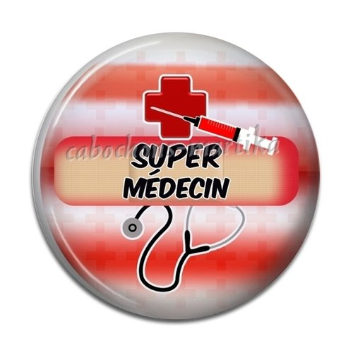 Cabochon médecin, résine-super médecin 25 mm