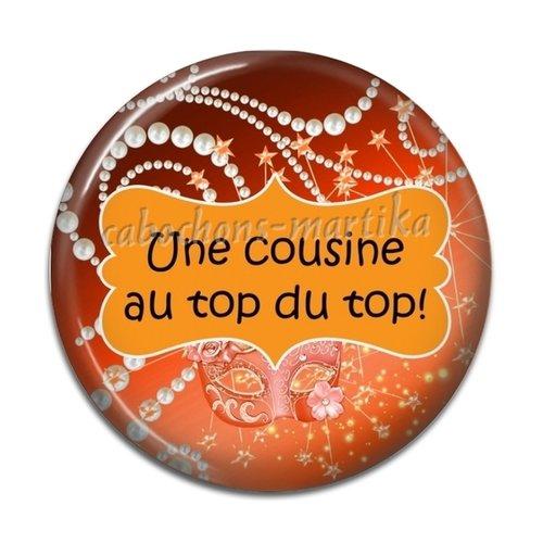 Cabochon cousine, résine 25 mm