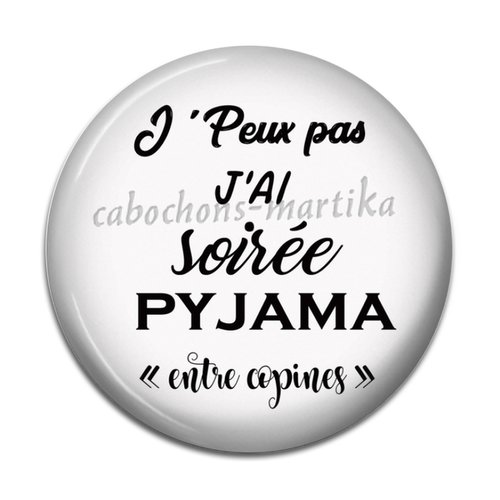 Cabochon slogan, resine 25 mm