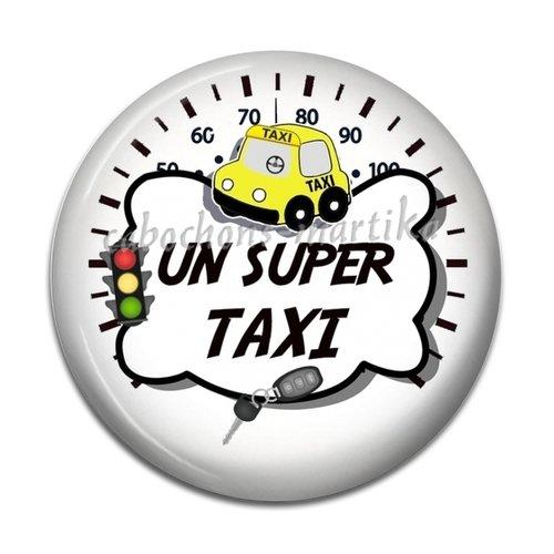 Cabochon taxi, super taxi, résine, 25 mm