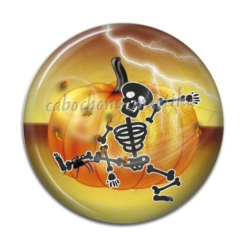 Cabochon halloween squelette, 25 mm résine