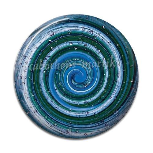 Cabochon résine spirale, 25 mm