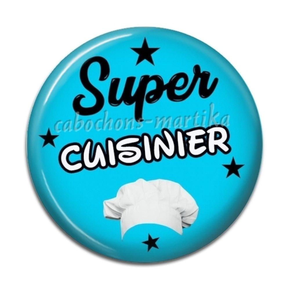 Cabochon super cuisinier, résine, 25 mm