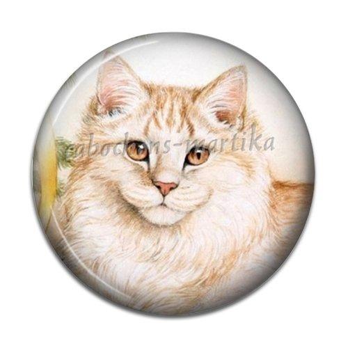 Cabochon chat, cabochon résine 20 mm chat