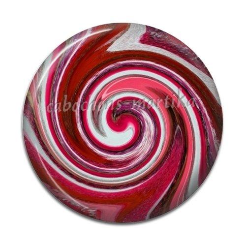 Cabochon spirale, résine ou verre, plusieurs tailles