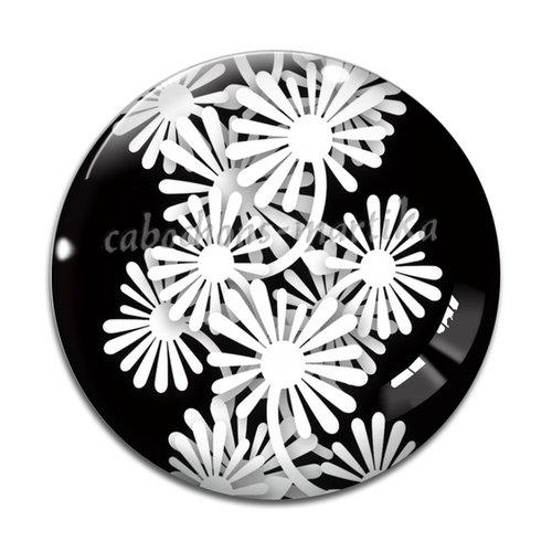 Cabochon fleur, résine ou verre, plusieurs tailles