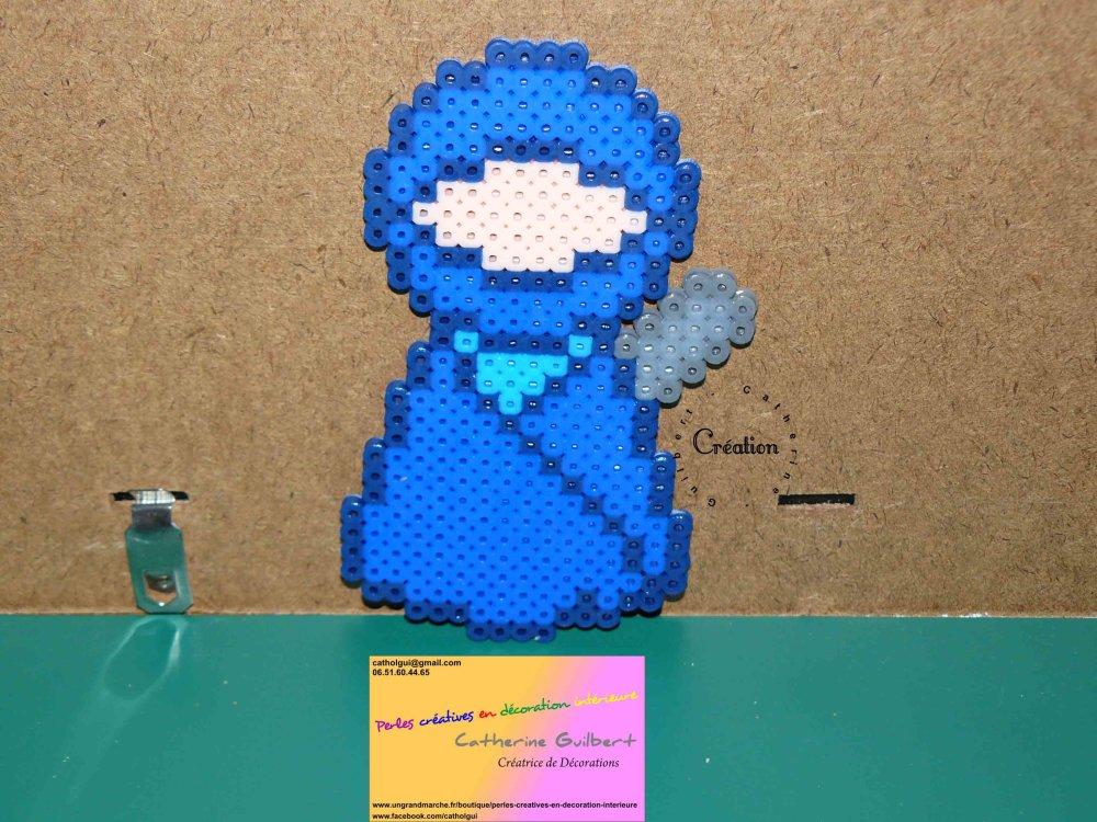 poupée figurine ninja bleu