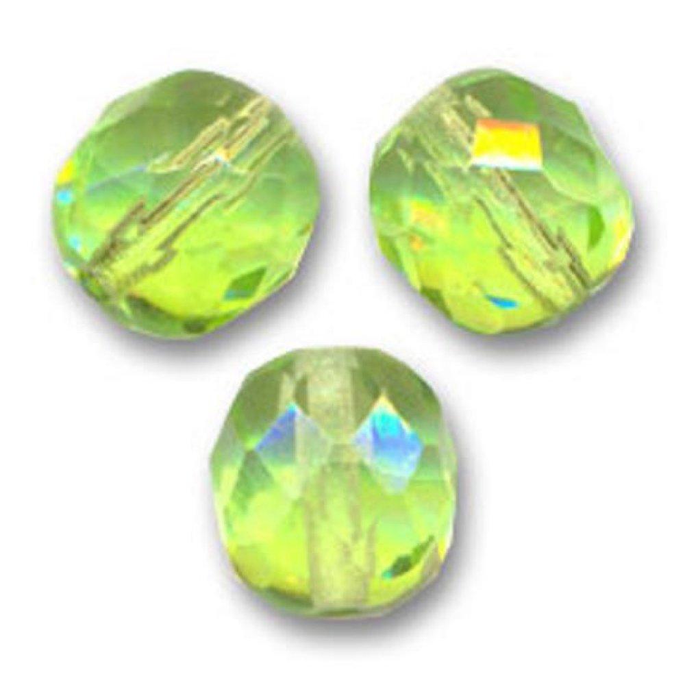 Lot de 50 Perles Facettes en Verre de Bohème 4mm Vert