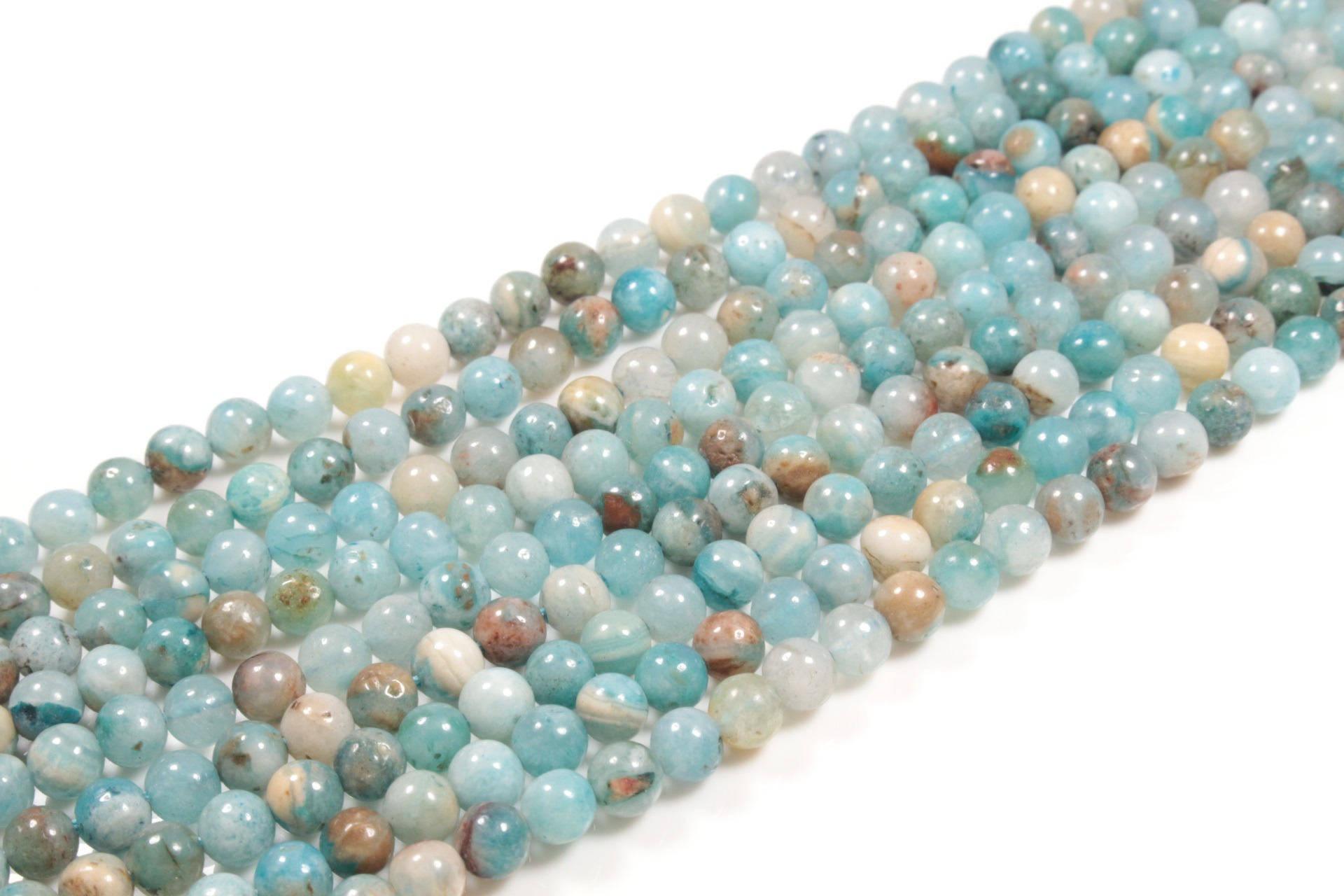 10 perles en hémimorphite / calamine naturelle 4mm    LBP00372
