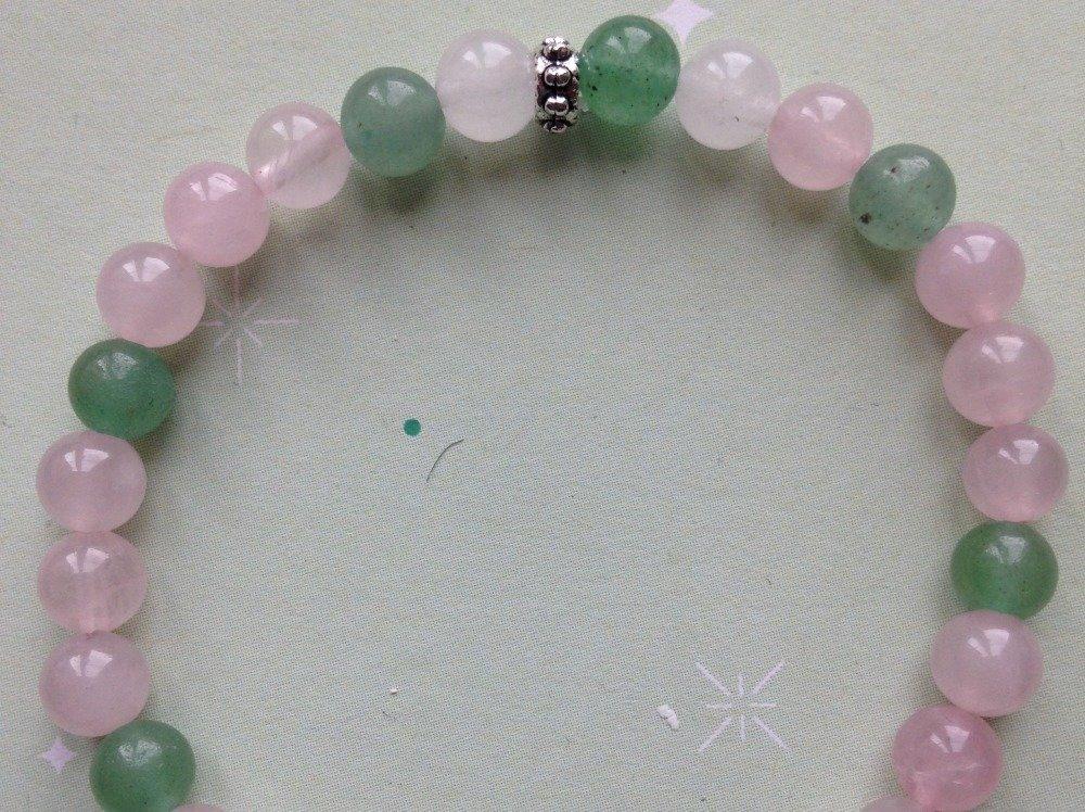 Bracelet quartz rose*aventurine