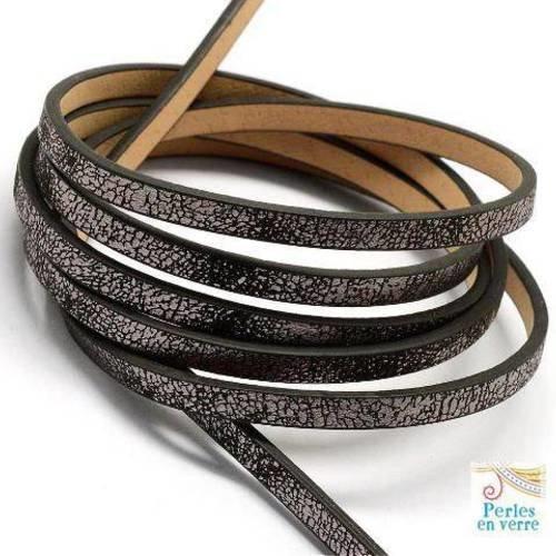120 cm de cordon de cuir artificiel largeur 10 mm