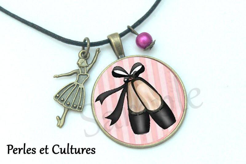Marque-page Ballet étoiles Danse classique cabochon noir rose danseuse ballerine pointes idée cadeau