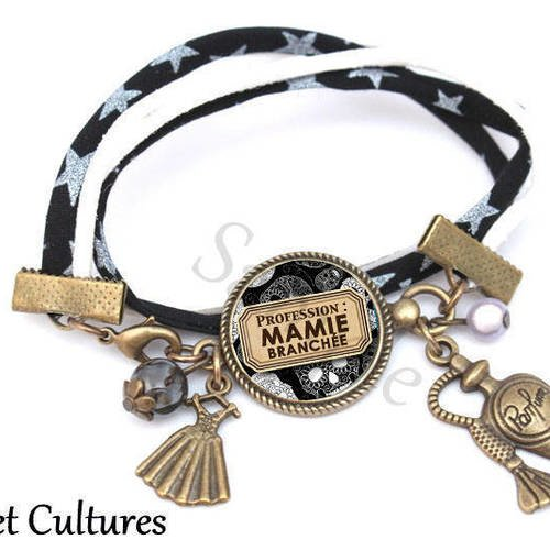 Bracelet liberty Cadeau Super Mamie