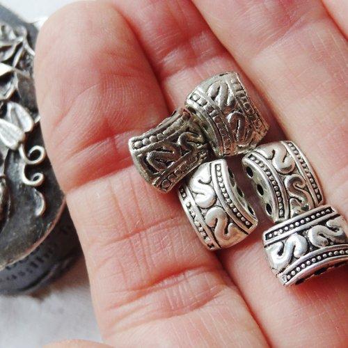 Perle argent tibet - a saisir