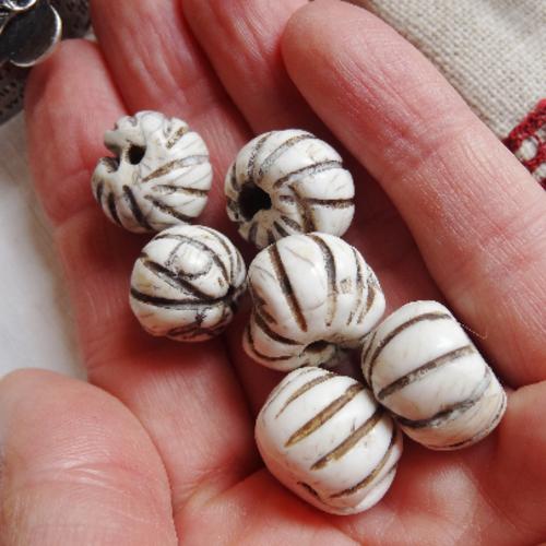 Lot 6 perles conque - haut de gamme
