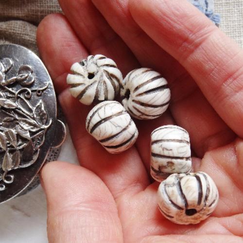 Lot 5 perles conque - haut de gamme