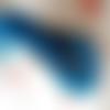 Perle chevron népalaise bleue