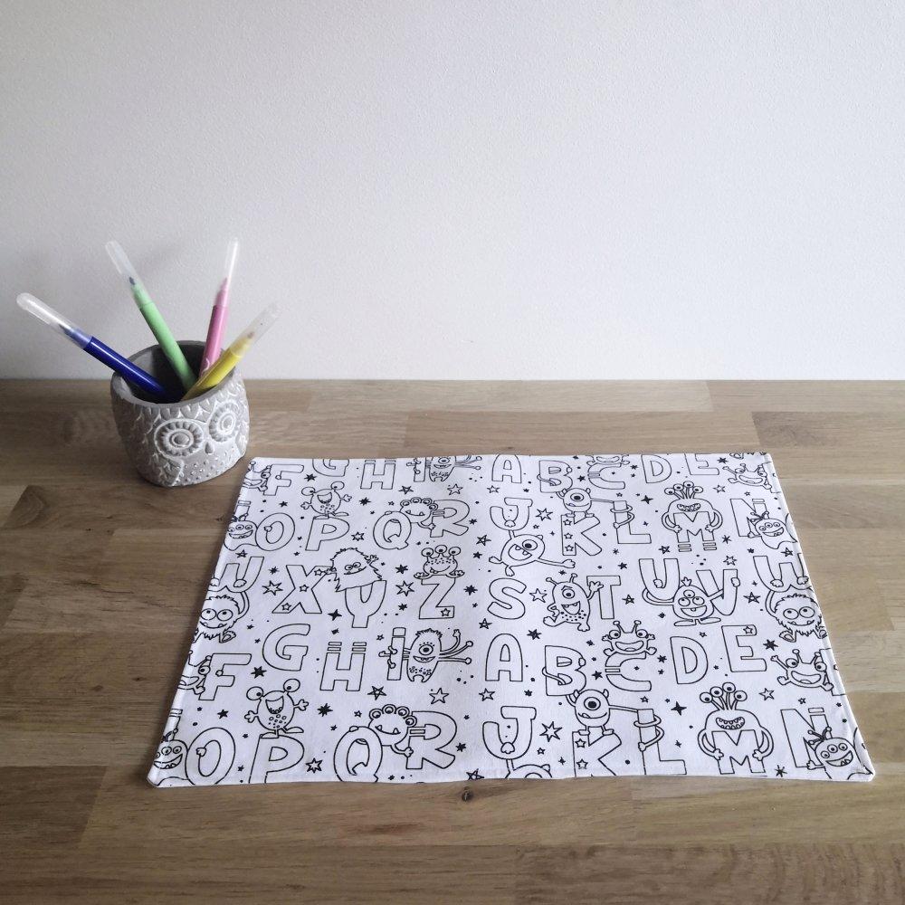 Set de coloriage tissu alphabet